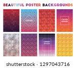 beautiful poster backgrounds.... | Shutterstock .eps vector #1297043716