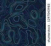 amazing topography. futuristic... | Shutterstock .eps vector #1297043983