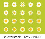 cute flower plant collection.... | Shutterstock .eps vector #1297044613