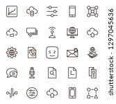 network icon set. collection of ... | Shutterstock .eps vector #1297045636