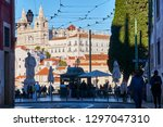 lisbon portugal    february 25 ... | Shutterstock . vector #1297047310