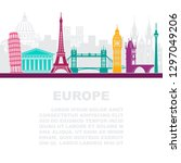 the layout of the leaflets with ... | Shutterstock .eps vector #1297049206