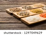 whole grains  seeds  cereals... | Shutterstock . vector #1297049629