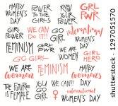 set of hand written lettering... | Shutterstock .eps vector #1297051570
