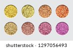 glitter eyeshadow tinsel...   Shutterstock .eps vector #1297056493