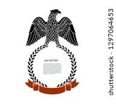 eagle is a heraldic symbol... | Shutterstock .eps vector #1297064653