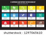 set of 15 flat e commerce and... | Shutterstock .eps vector #1297065610