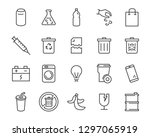 set of waste icons  such as... | Shutterstock .eps vector #1297065919