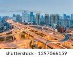 urban overpass at dusk  modern... | Shutterstock . vector #1297066159