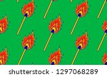 seamless pattern with a burning ... | Shutterstock .eps vector #1297068289