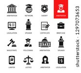 law   justice icon set | Shutterstock .eps vector #1297073653
