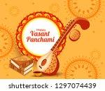 illustration of happy vasant... | Shutterstock .eps vector #1297074439