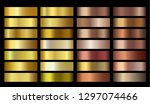 Stock vector vector banners with gold and bronze gradient texture backgrounds website headers vector golden 1297074466