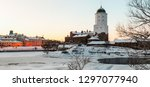 panorama of vyborg castle and... | Shutterstock . vector #1297077940