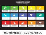 set of 15 flat hands icons  ... | Shutterstock .eps vector #1297078600