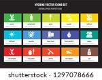 set of 15 flat hygiene icons  ... | Shutterstock .eps vector #1297078666