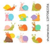 Cartoon Snail. Cute Slug ...
