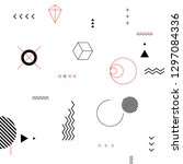 geometric vector pattern with... | Shutterstock .eps vector #1297084336