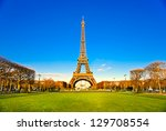 view of the eiffel tower at... | Shutterstock . vector #129708554