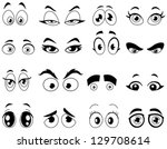 Outlined Cartoon Eyes Set