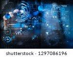 financial report data of... | Shutterstock . vector #1297086196