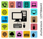 mobile devices   computer and... | Shutterstock .eps vector #1297086643