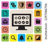 computer menu icons set....   Shutterstock .eps vector #1297086706