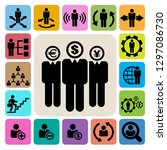 business and management icons...   Shutterstock .eps vector #1297086730
