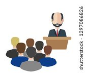 business man tribune speech... | Shutterstock .eps vector #1297086826