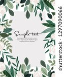 vector illustration of green... | Shutterstock .eps vector #1297090066