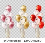 set of realistic balloons group ... | Shutterstock .eps vector #1297090360