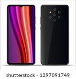 realistic smartphone mockups... | Shutterstock .eps vector #1297091749