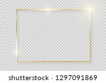 gold shiny glowing vintage... | Shutterstock .eps vector #1297091869