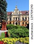 brasov  town in transylvania ... | Shutterstock . vector #129709190