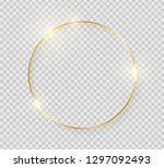 gold shiny glowing vintage... | Shutterstock .eps vector #1297092493