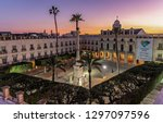 almeria  spain. circa january... | Shutterstock . vector #1297097596