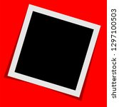 black and white polaroid photo... | Shutterstock .eps vector #1297100503