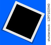 black and white polaroid photo... | Shutterstock .eps vector #1297102540
