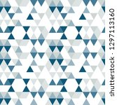 triangles pattern in retro... | Shutterstock .eps vector #1297113160