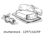 sketch hand drawn block of... | Shutterstock .eps vector #1297116259
