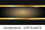 vintage shiny golden frame  on... | Shutterstock .eps vector #1297116673