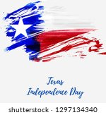 texas independence day holiday. ... | Shutterstock .eps vector #1297134340