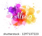 purple and orange colored... | Shutterstock .eps vector #1297137223