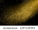 gold glitter texture isolated... | Shutterstock .eps vector #1297139593