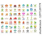 set of mega collection food and ... | Shutterstock .eps vector #1297139779