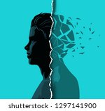 a adult male dealing with... | Shutterstock .eps vector #1297141900