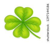 clover four leaf irish saint... | Shutterstock .eps vector #1297144186