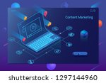 isometric it specialists...   Shutterstock .eps vector #1297144960