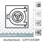 safe thin line icon. outline... | Shutterstock .eps vector #1297155289