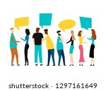 group of cartoon young people... | Shutterstock .eps vector #1297161649